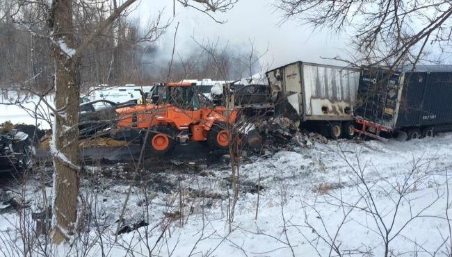 193-vehicle pileups shut down I-94 for 2 days