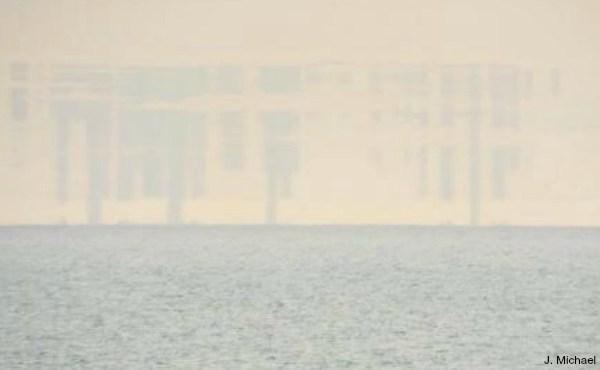 chicago skyline mirage over lake michigan 041815_91135