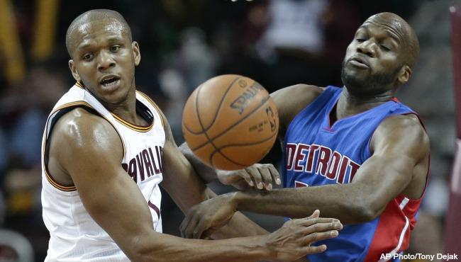 Detroit Pistons Joel Anthony 041316 AP_206614