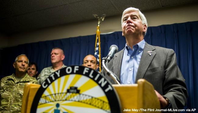Gov. Rick Snyder Flint water crisis 012716 AP_185616
