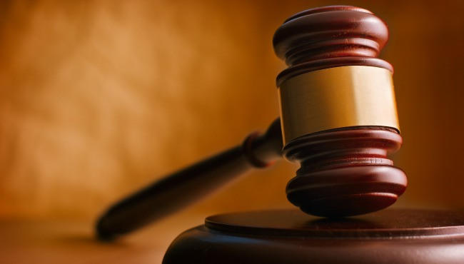Gavel close up. Conceptual image of law and justice._45511