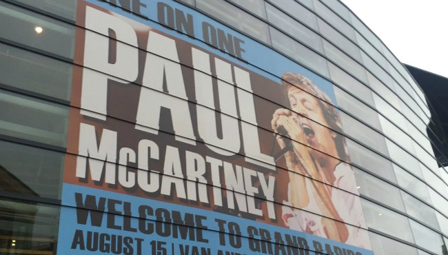 Paul McCartney visited Van Andel Arena in Grand Rapids on Aug. 15, 2016.