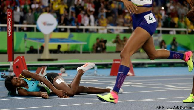 Rio Olympics Shaunae Miller 400m 081516 AP_237571