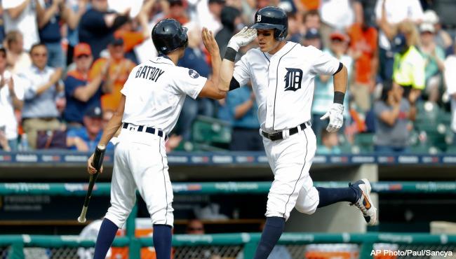 Detroit Tigers Ian Kinsler 041017 AP_319276