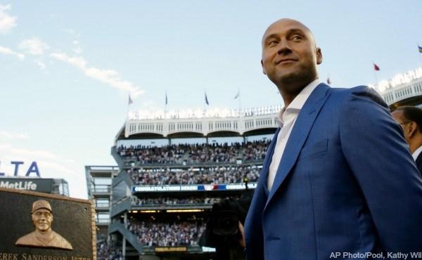 New York Yankees Derek Jeter plaque 051417 AP_337486