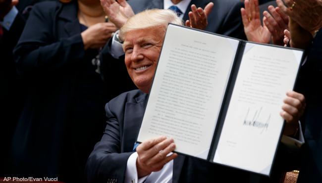 President Donald Trump religious liberty 050417 AP_332323