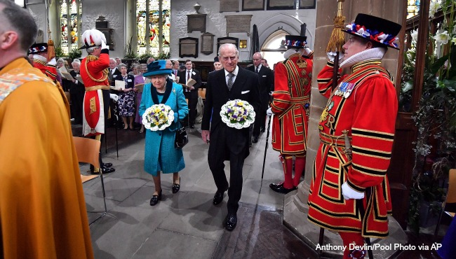 Queen Elizabeth Prince Philip AP 050417_331921