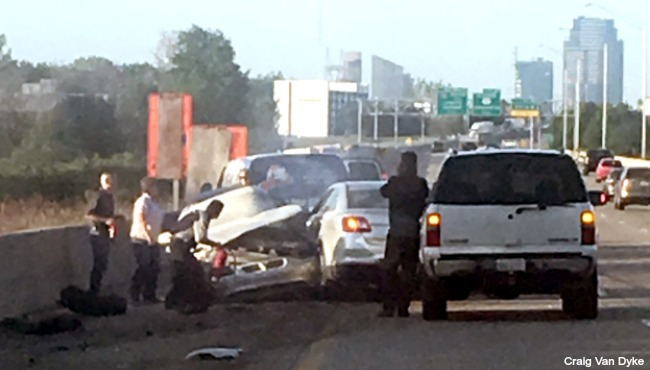 MSP: 1 injured in US-131 crash in Kent County