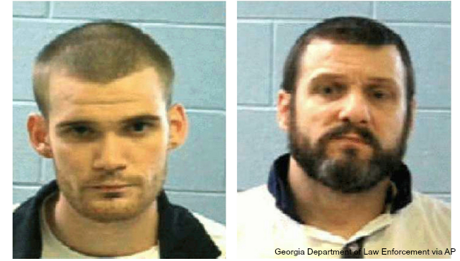 Georgia inmates Ricky Dubose Donnie Russell Rowe AP_353100
