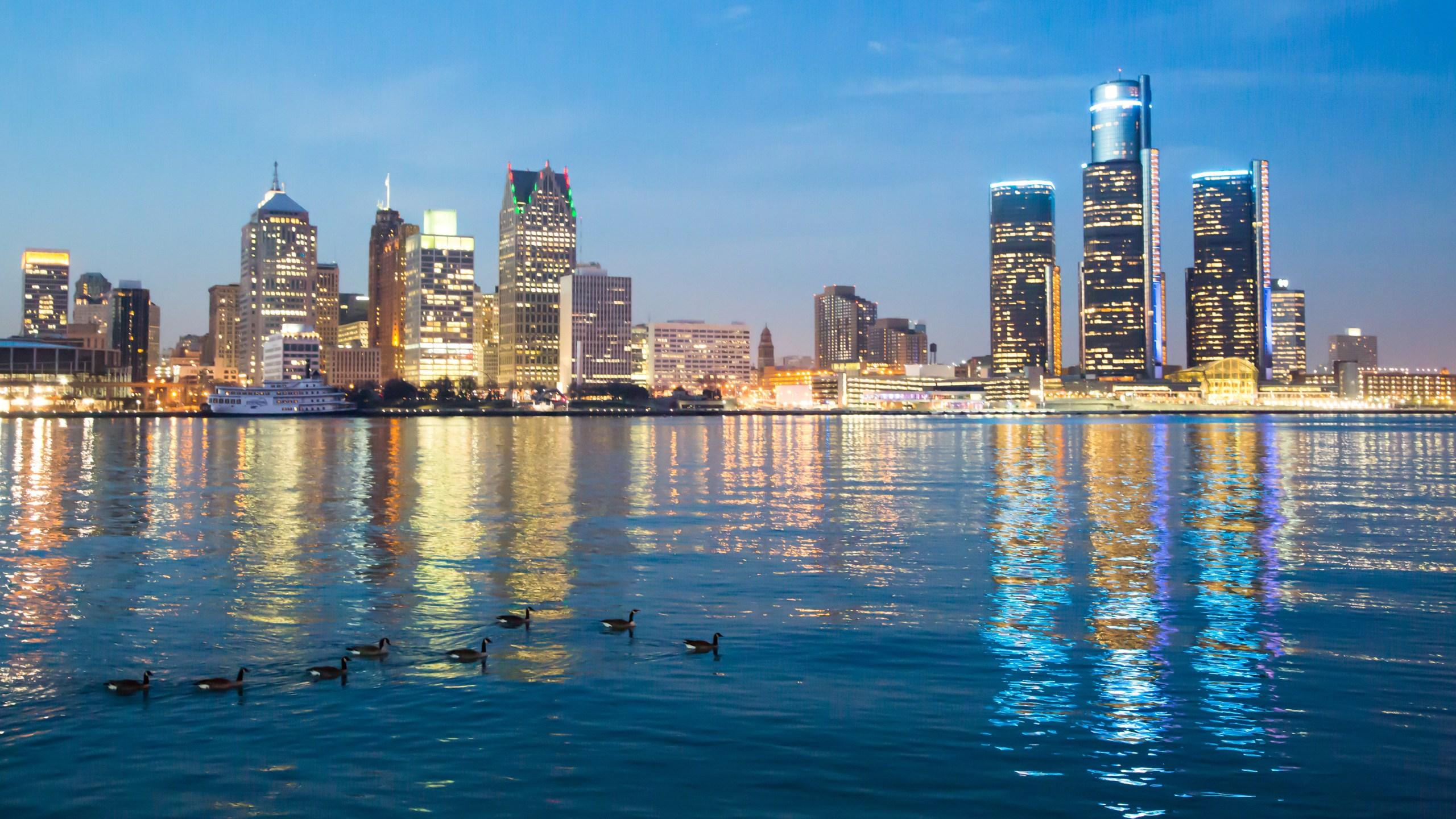 Detroit Skyline during evening_45231