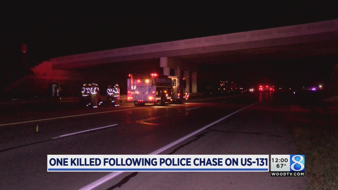 1 killed in US-131 crash after police chase