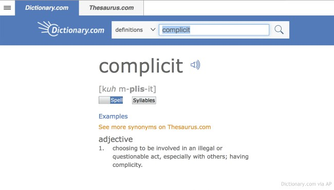 complicit dictionary 112717_439403