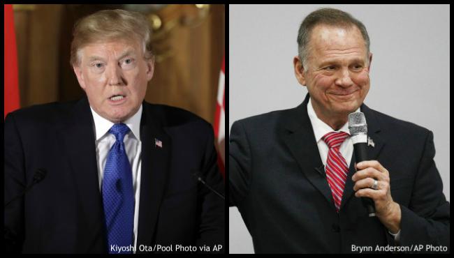Donald Trump Roy Moore AP_439478
