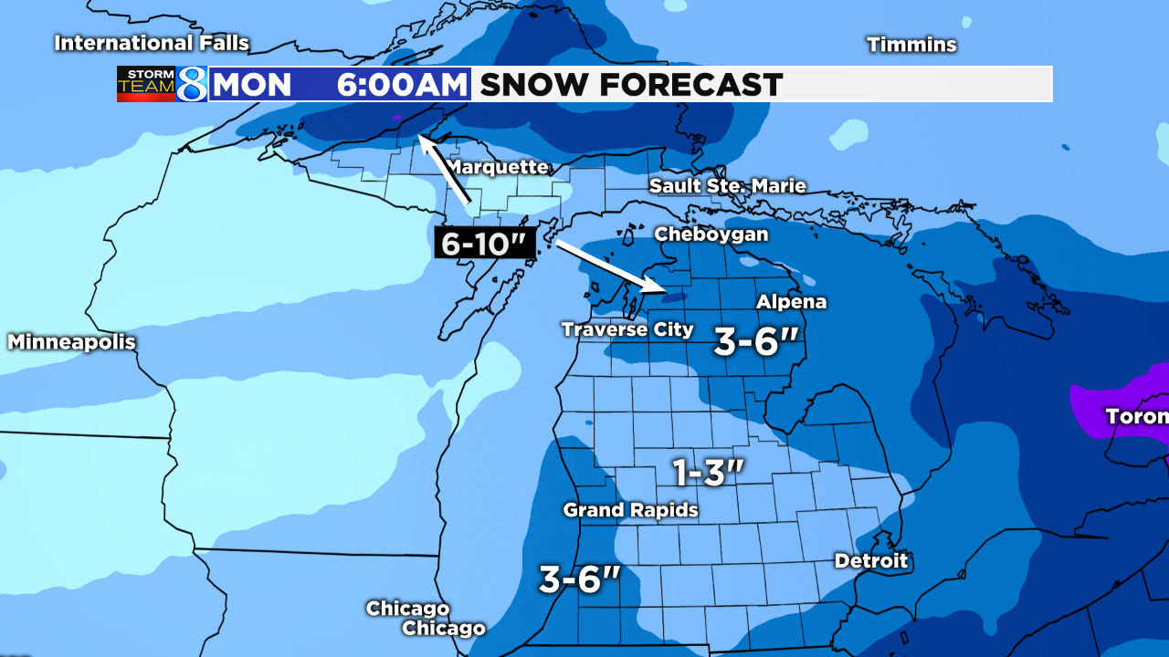 White Christmas Forecast.Storm Team 8 Chance Of A White Christmas In W Mi
