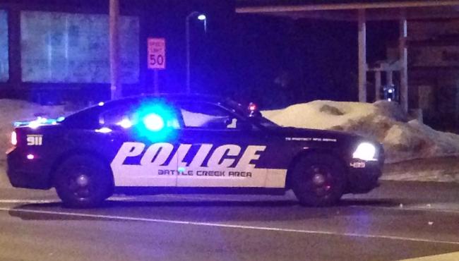 generic battle creek police department winter night_449177
