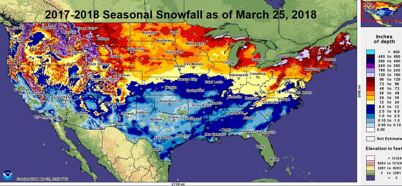 Bills Blog Snowfall Totals Across Us So Far This Winter - Map-of-us-snowfall
