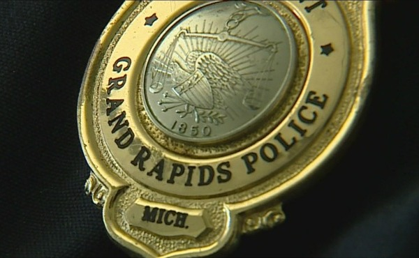 generic grpd grand rapids police department badge