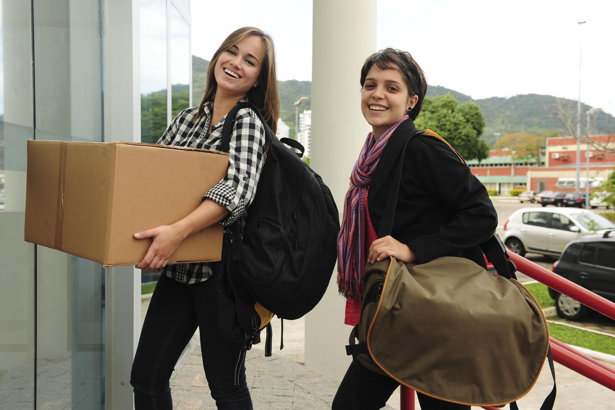 College move-in