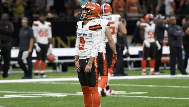 Cleveland browns kicker zane gonzalez AP 091718