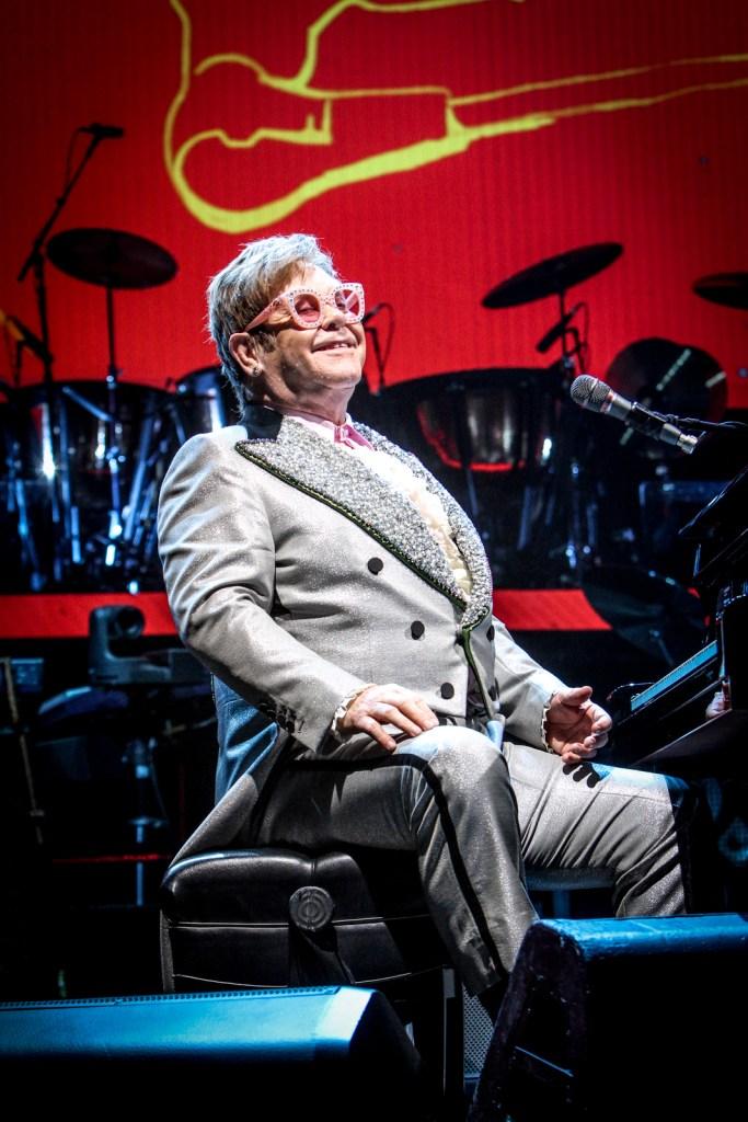 Elton John performed at Van Andel Arena in downtown Grand Rapids on Oct. 15, 2018. (Michael Buck/WOOD TV8)