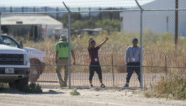Tornillo immigrant teen detention camp AP 112718_1543356705681.jpg.jpg