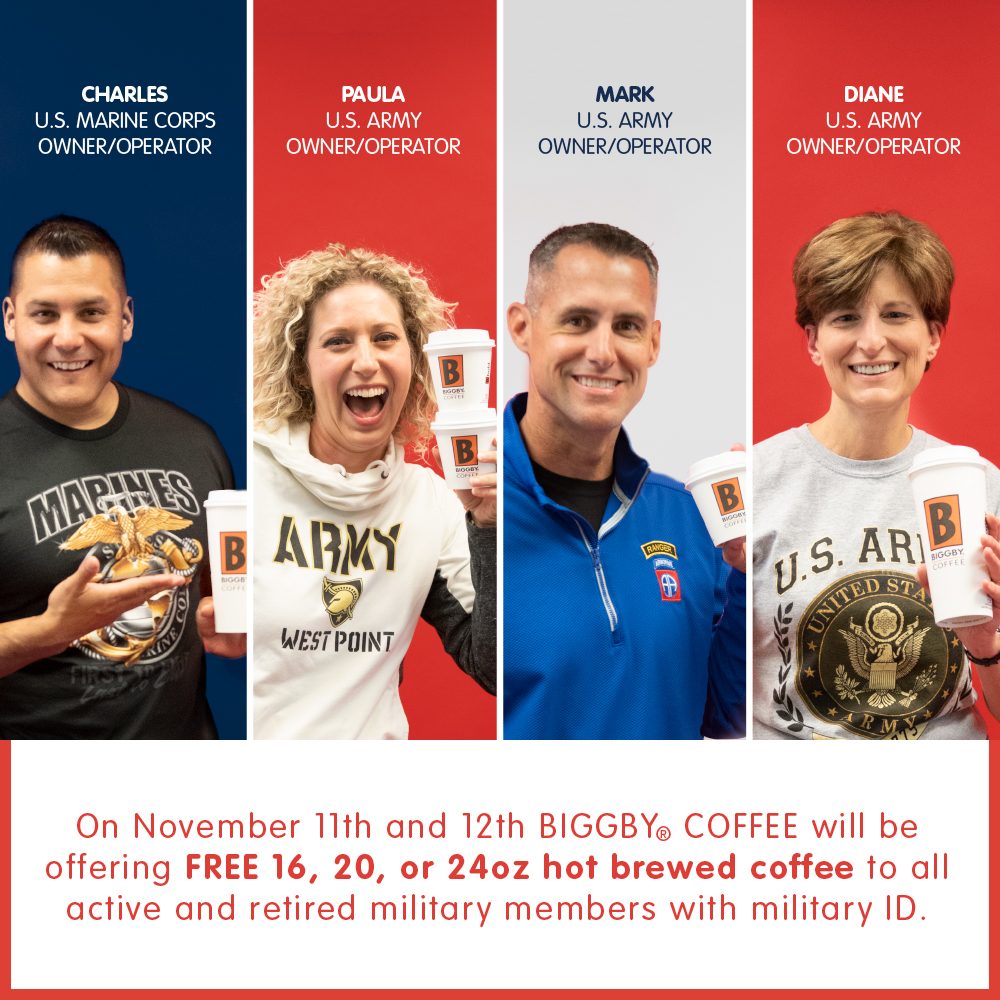 Free coffee for vets