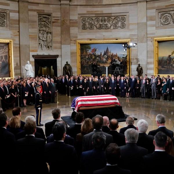 President George HW Bush US Capitol Rotunda 120318 AP _1543889226750