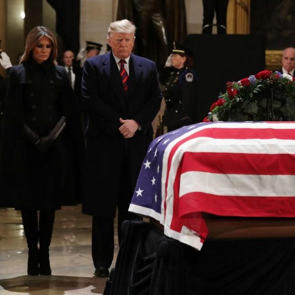 President George HW Bush lies in state 120318 Getty.jpg_1543892168814