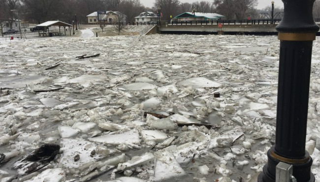 portland ice jam flooding