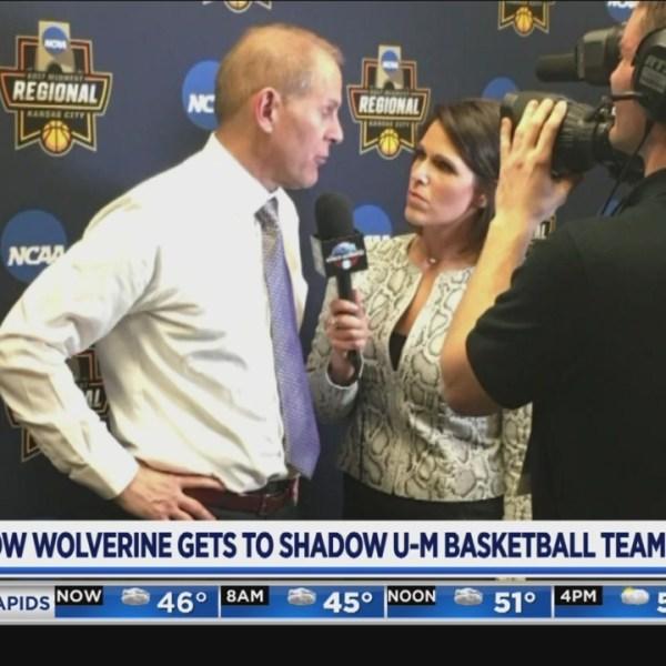 Fellow Wolverine gets to shadow U of M basketball team