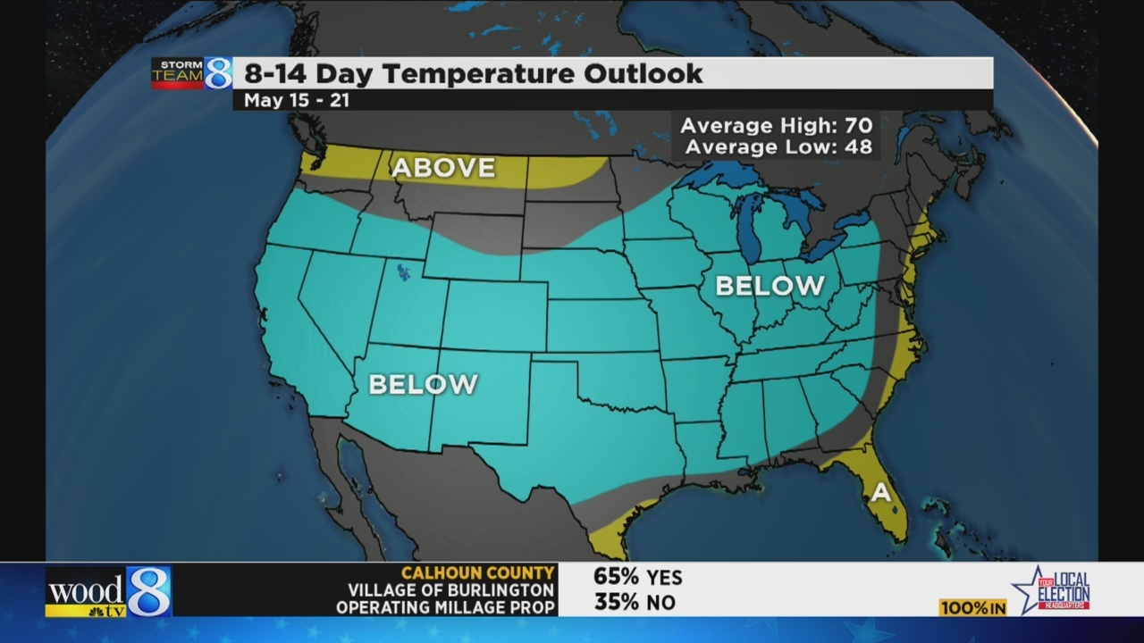 Cool spring in W  MI: No 80-degree day yet