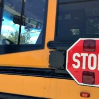 generic school bus stop sign
