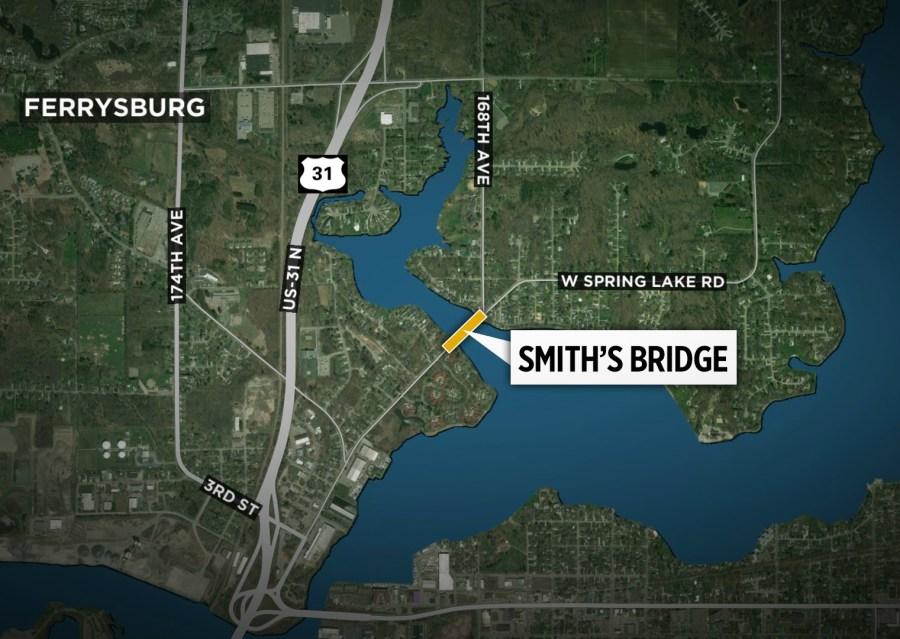 Map of Smith's Bridge in Ferrysburg