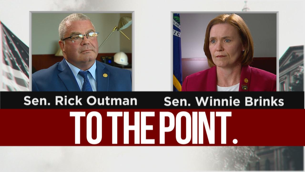 To The Point: State Sens. Outman, Brinks