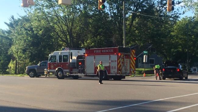 Crash scene on Laraway Lake Drive and Cascade Road
