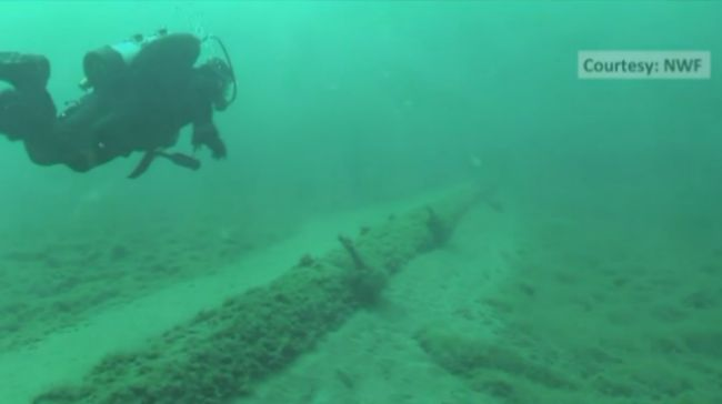 Enbridge Line 5 Straits of Mackinac 072215_111054