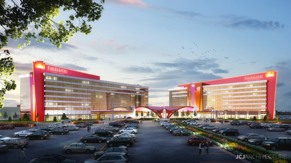 FireKeepers Casino expansion rendering
