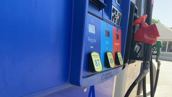 A photo of a gas pump.