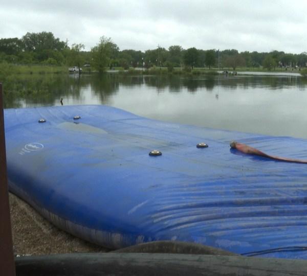 Muskegon Veteran's Memorial Park temporary dam