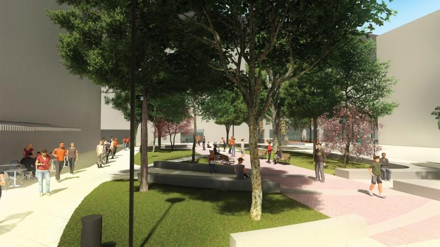 Van Andel Arena alley redesign rendering