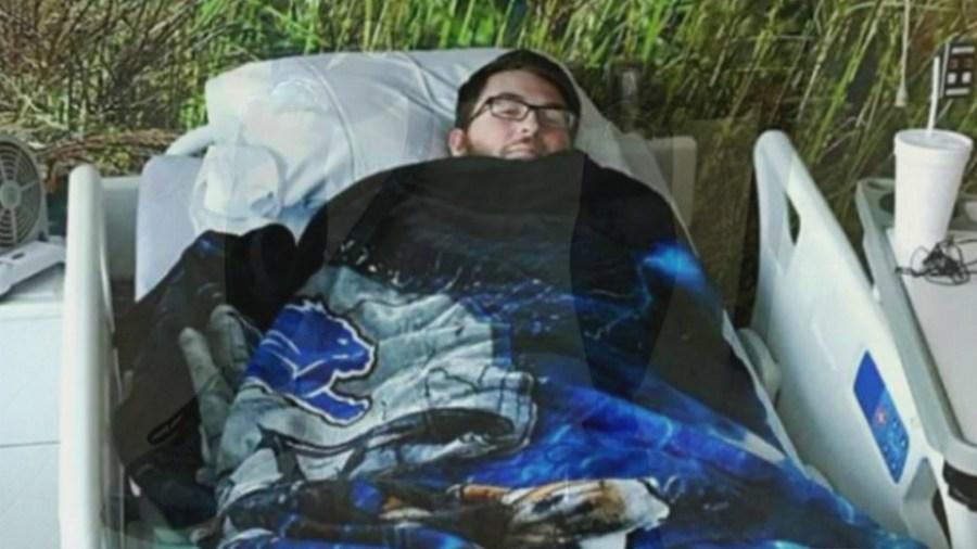 Nathan Wolford after crash