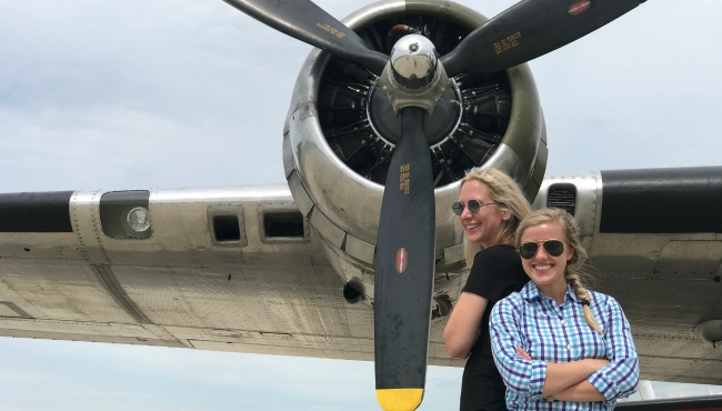 A photo of the Yankee Lady, a World War II heavy bomber, which was parked at the Muskegon County Airport in Norton Shores on June 28, 2019.