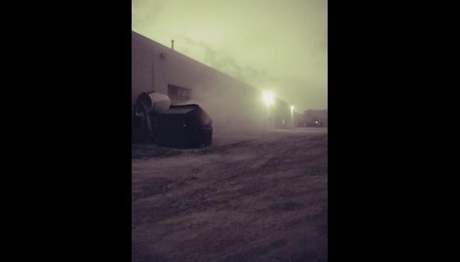 A photo of dumpster fire in Belding on July 19, 2019. (Courtesy of Deb Harrison)