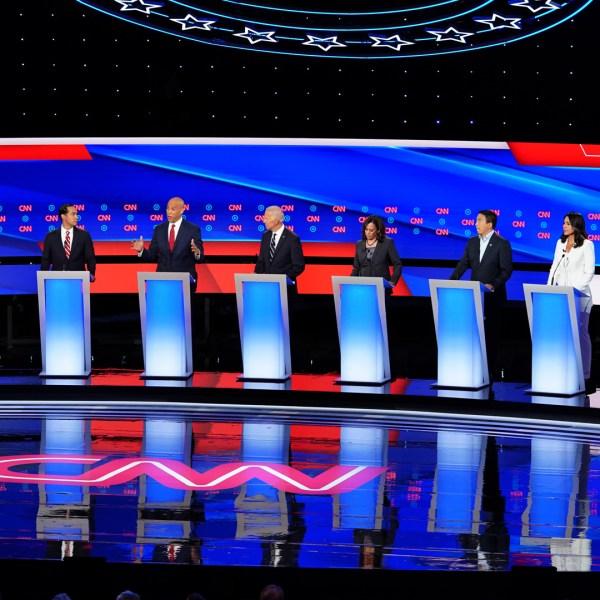 Democratic Presidential Candidates Debate In Detroit