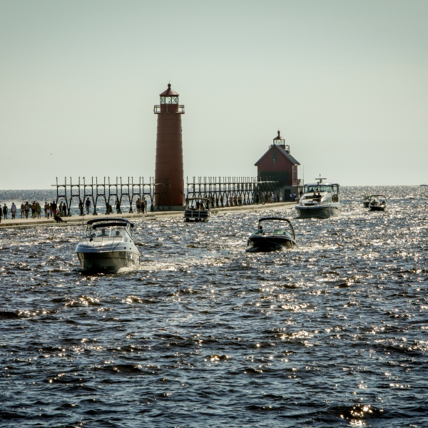 Grand Haven State Park high water
