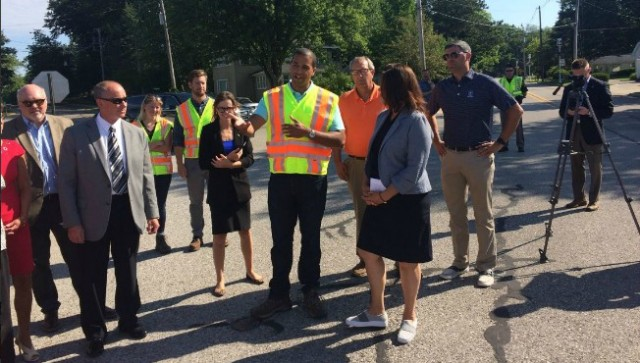Whitmer at closed bridge: 'Need to get serious' about road plan