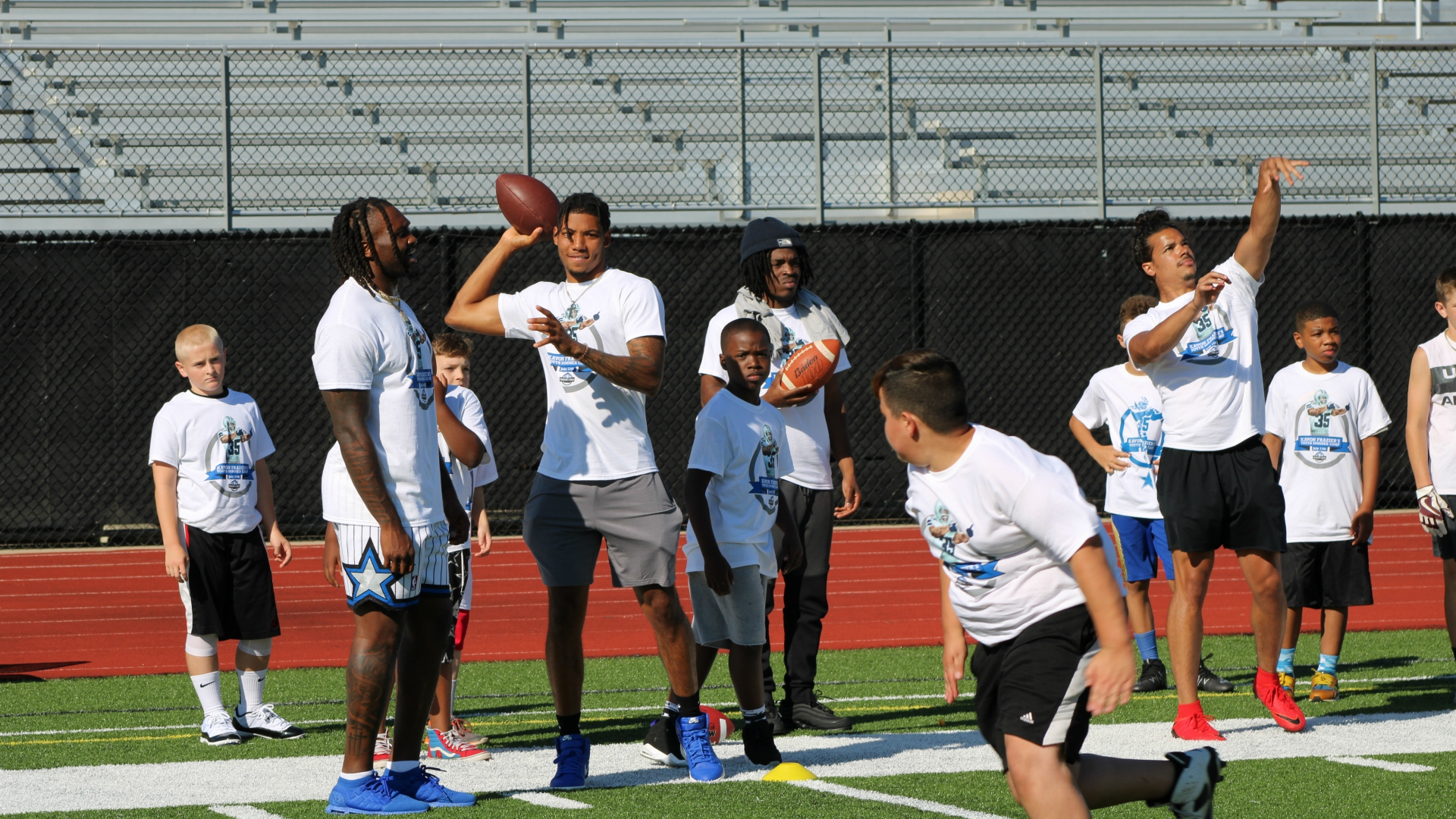 Kavon Frazier youth football camp