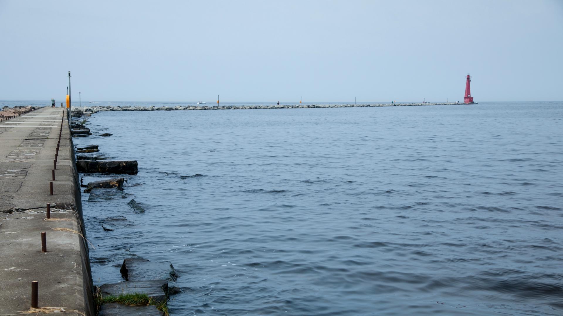 Muskegon pier Lake Michigan