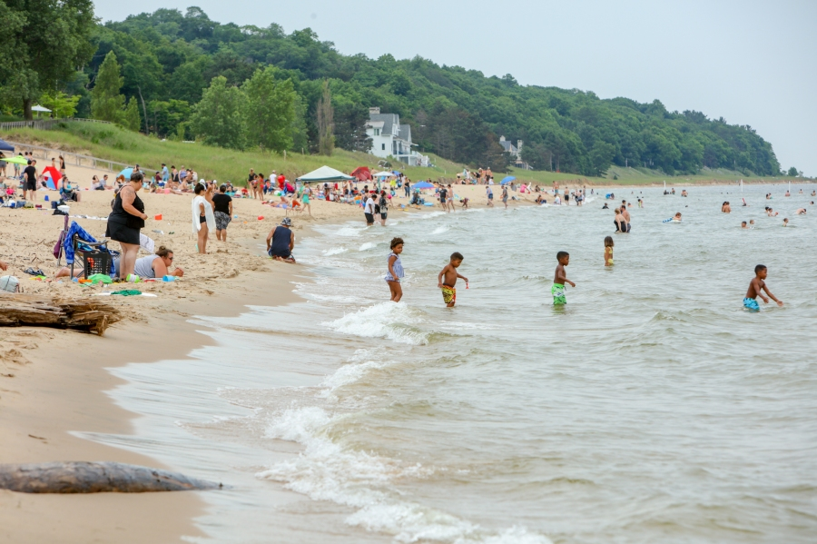 Oval Beach high water