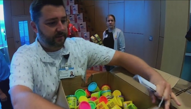 Community surprises young GR patients with Play-Doh, toys